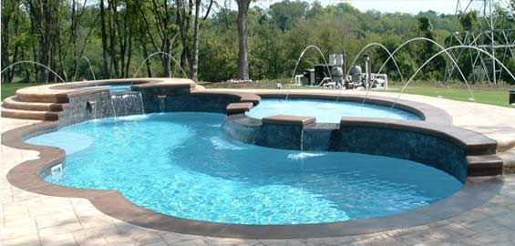 Tanning ledge for your Swimming Pool from Diamond Pools